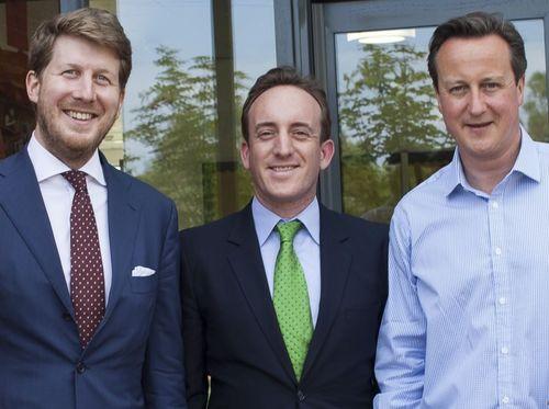 Mina Groupâeuro(TM)s Graham Oâeuro(TM)Donoghue (left) and Zack Friedman with Prime Minister David Cameron (PRNewsFoto/Mina Group)