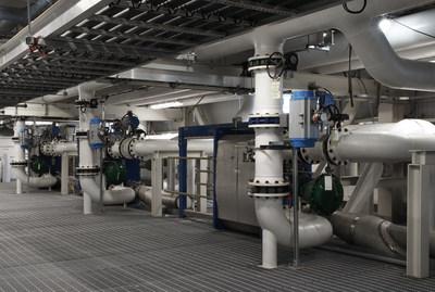 Inside view of BioAmber Sarnia's Bio Succinic Acid Plant