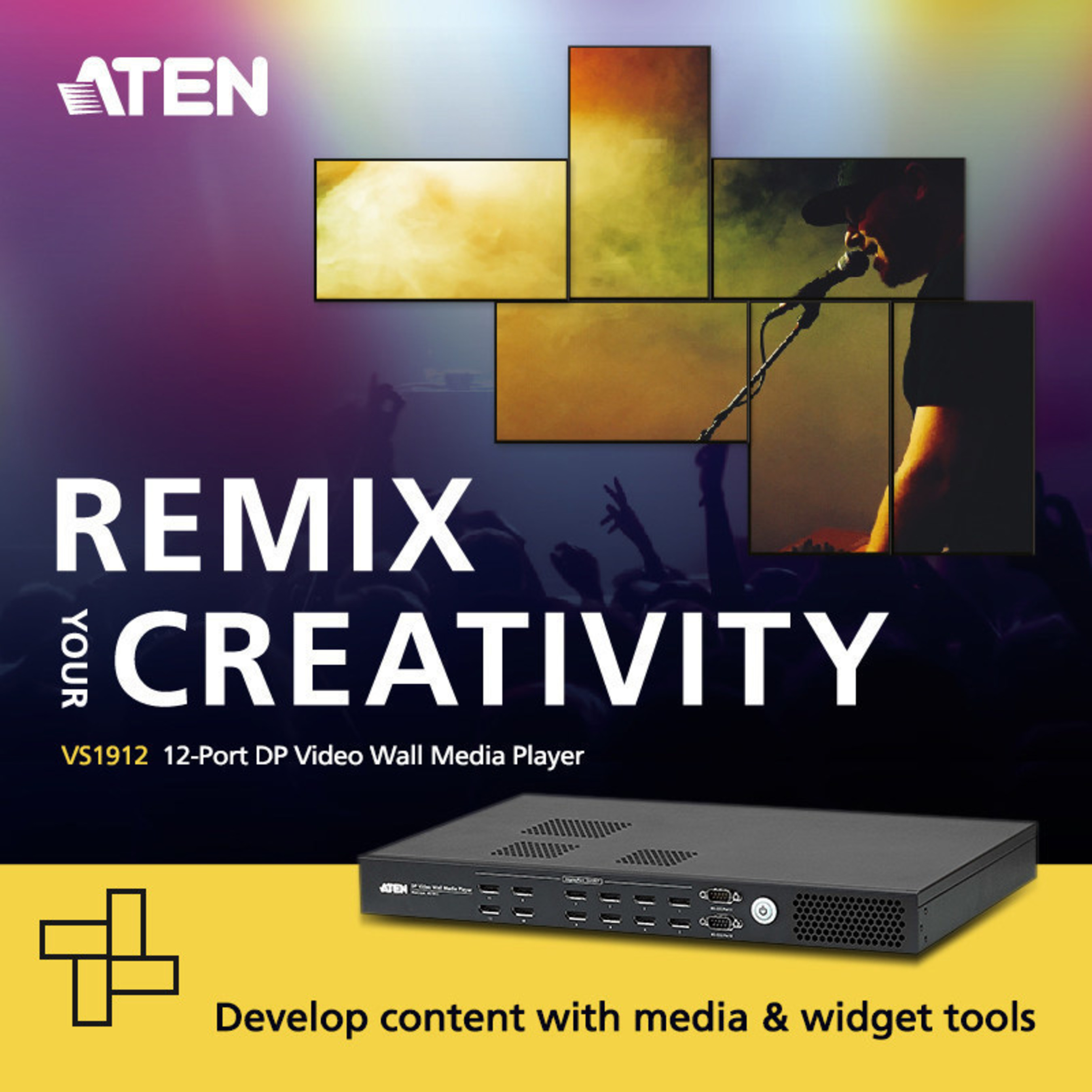 ATEN Introduces Video Wall Media Player with a Difference
