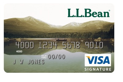 L.L.Bean Visa Card issued by Barclaycard US. (PRNewsFoto/Barclaycard US)