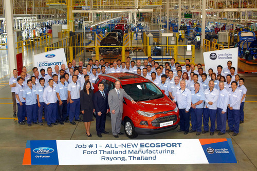 Ford Motor Company today celebrated the official start of production for the all-new Ford EcoSport urban SUV at the company's state-of-the-art Ford Thailand Manufacturing (FTM) plant in Rayong, Thailand. (PRNewsFoto/Ford Motor Company) (PRNewsFoto/FORD MOTOR COMPANY)