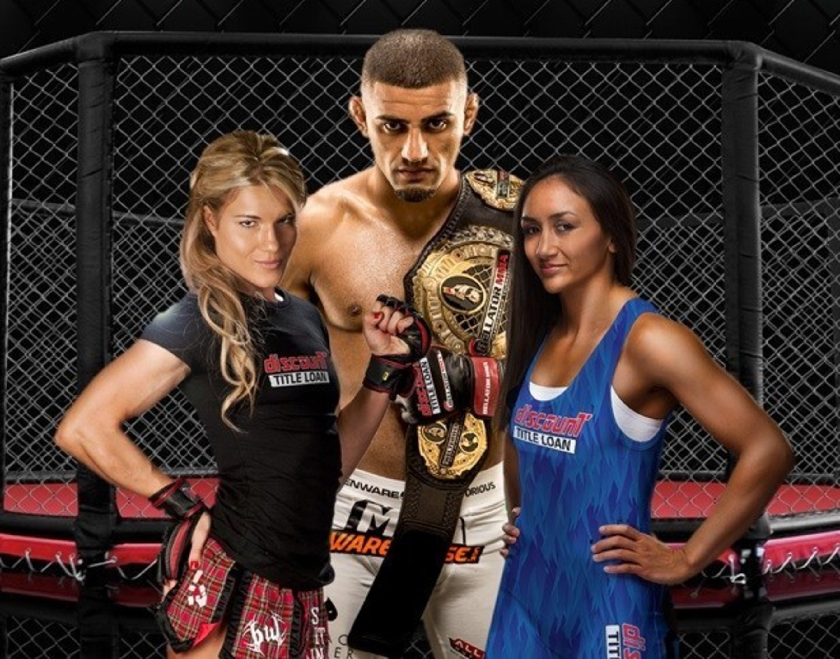 "Bellator Welterweight Champion Douglas Lima, UFC Strawweight Champion Carla Esparza and the head turning, controversial Ultimate Fighter 20 quarterfinalist Felice Herrig, a Mixed Martial Arts ""Dream Team"" will be representing the consumer finance company, Discount Title Loan, as brand ambassadors. All three athletes are represented by SuckerPunch Entertainment and collectively hold more than six professional Championship Titles."