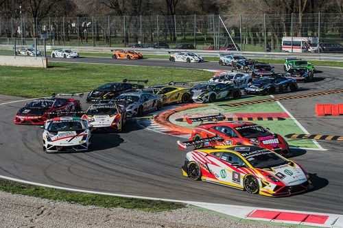 Lamborghini racing action from the Super Trofeo's sister series in Europe.
