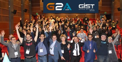 Trend Setting G2A.com speakers, International VIP gaming legends and some attendees at the Gaming Istanbul GIST Developers Conference 2016 on 3rd February 2016 in Istanbul. The speeches were based on current developments in the global gaming industry, facts and projections on the bright future of the gaming industry. (PRNewsFoto/G2A.com) (PRNewsFoto/G2A.com)