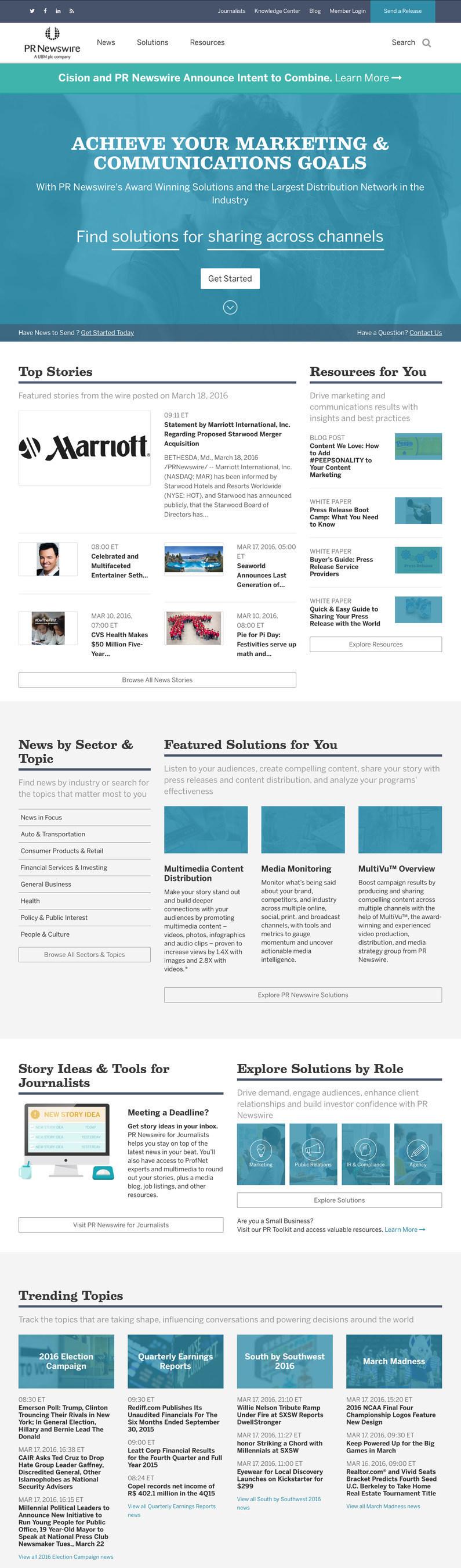 PR Newswire Introduces Redesigned Website