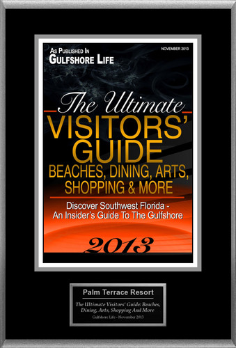 """Palm Terrace Resort Selected For """"The Ultimate Visitors' Guide: Beaches, Dining, Arts, Shopping And More"""". (PRNewsFoto/Palm Terrace Resort) (PRNewsFoto/PALM TERRACE RESORT)"""