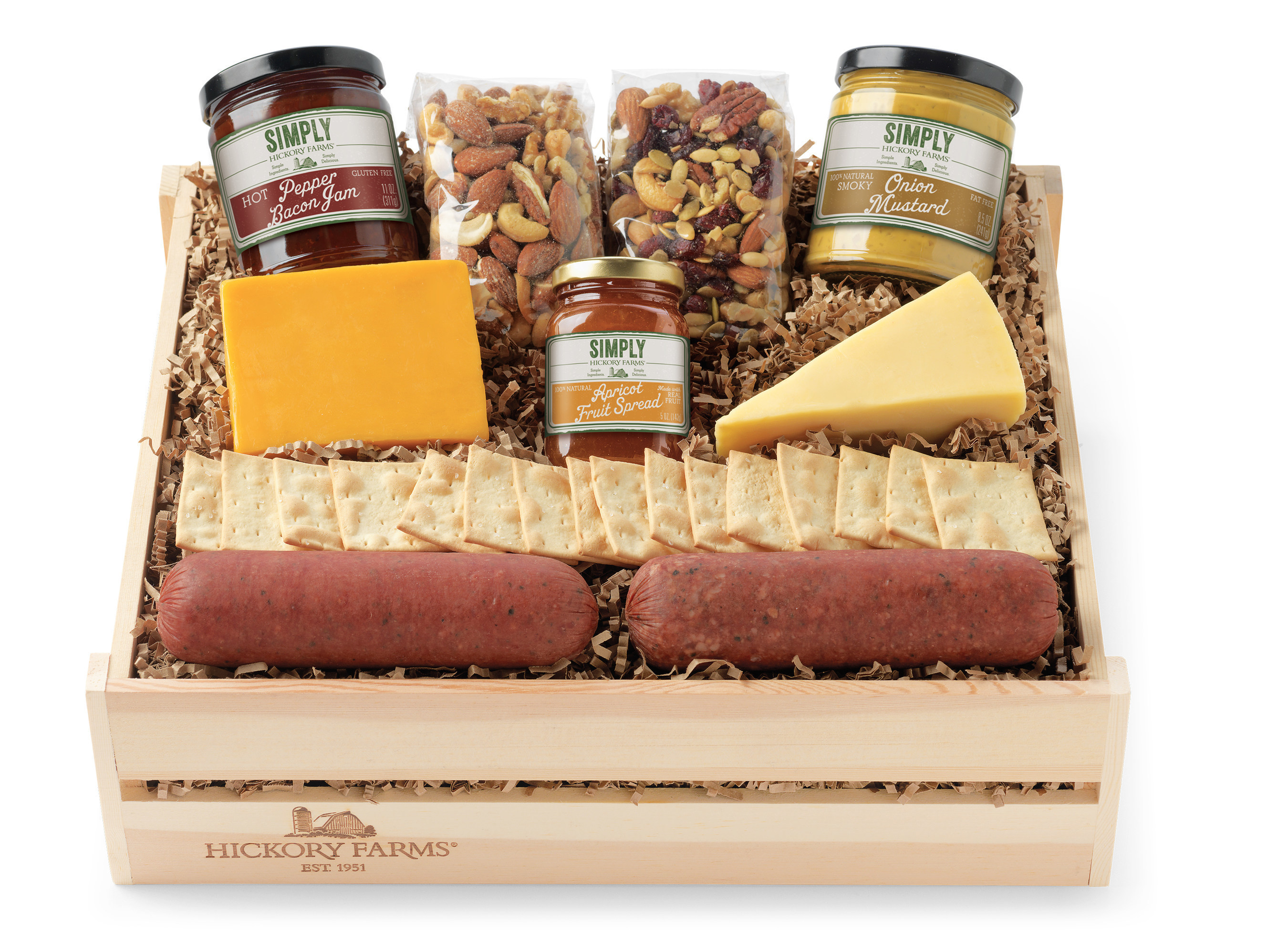 Hickory Farms introduces Simply Hickory Farms, a line of wholesome sausage, cheeses and condiments made from all-natural, simple ingredients containing no preservatives, artificial flavors or colors.
