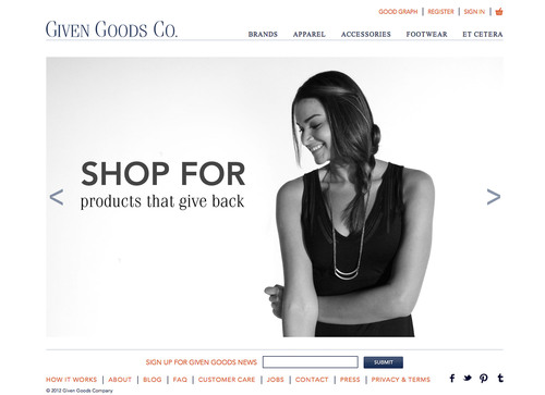 Make your gift count this Holiday season with Given Goods Company! www.givengoods.co.  (PRNewsFoto/Given Goods ...