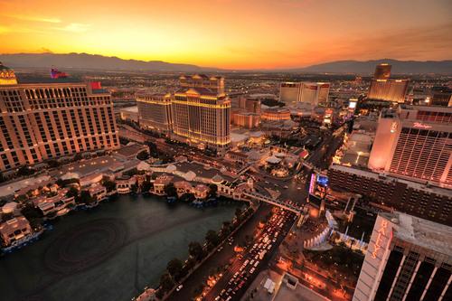 View from The Eiffel Tower Experience at Paris Las Vegas.  (PRNewsFoto/Paris Las Vegas)