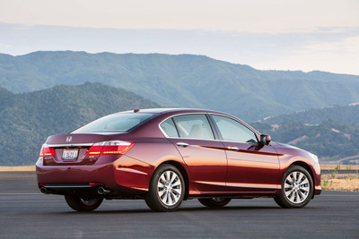 The 2013 Honda Accord was one of three Honda models to receive an ALG Residual Value Award, with Honda also receiving the top honor of Best Mainstream Brand. Since 2000, the Honda brand has earned 28 model awards and seven overall brand awards from ALG.  (PRNewsFoto/American Honda Motor Co., Inc.)