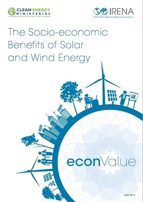 The econValue report analyses the circumstances under which renewable energy can boost economies and benefit communities by studying the effects of solar and wind energy on the environment, economy, and society. (PRNewsFoto/Clean Energy Ministerial)