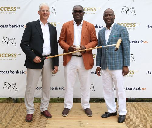 L-R JAMIE SIMMONDS ACCESS BANK UK MANAGING DIRECTOR & CEO, ADAMU ATTA FIFTH CHUKKER CHAIRMAN AND HERBERT WIGWE MANAGING DIRECTOR OF ACCESS BANK. PHOTO HUGO PHILPOTT PA (PRNewsFoto/The Access Bank)