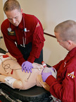 Angel MedFlight's clinical team trains with true-to-life SimMan(R).  (PRNewsFoto/Angel MedFlight Worldwide Air Ambulance)