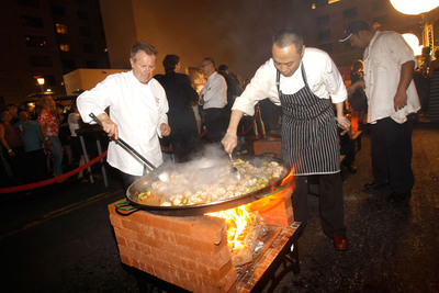 Julian Serrano of Picasso at Bellagio Cooking Up a Feast during Vegas Uncork'd in 2012. Photo credit: Isaac Brekken