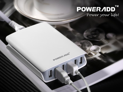Poweradd Newly Released 50W Desktop USB Charger