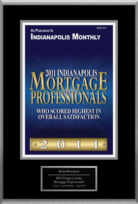 "Brian Keranen Selected For ""2011 Indianapolis Mortgage Professionals"".  (PRNewsFoto/American Registry)"