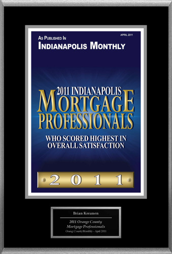"Brian Keranen Selected For ""2011 Indianapolis Mortgage Professionals"".  (PRNewsFoto/American Registry)"
