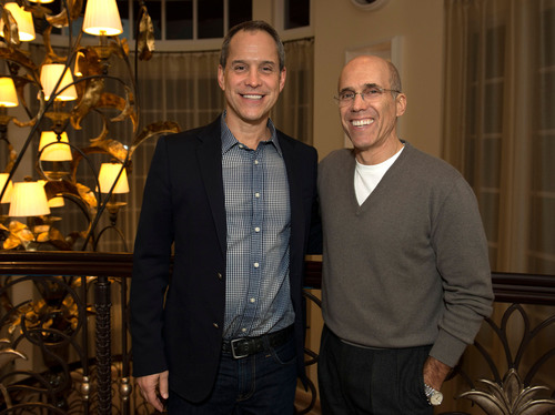 AwesomenessTV's Brian Robbins and DreamWorks Animation's Jeffrey Katzenberg.  (PRNewsFoto/DreamWorks Animation SKG, Inc.)
