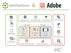 Adobe and thePlatform Integration.  (PRNewsFoto/thePlatform)