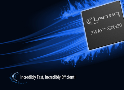 Lantiq's Flagship GRX330 Processor Uses Dedicated Offload Engines to Accelerate Data. Designed for home gateway systems, the communications processor handles broadband access and the growing range of smart home applications.  (PRNewsFoto/Lantiq)