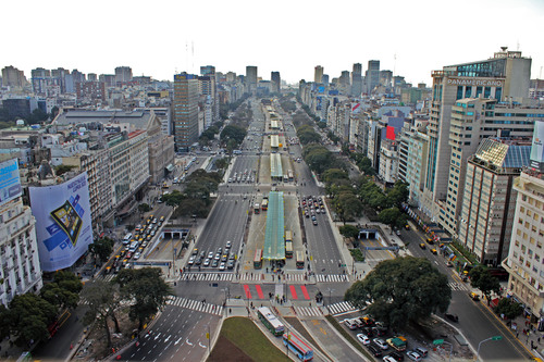 9 de Julio Avenue, one of the widest in the world with more than 20 lanes, was transformed into a world-class ...
