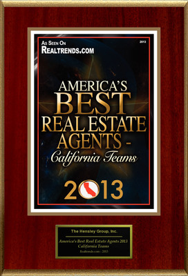"The Hensley Group, Inc Selected For ""America's Best Real Estate Agents 2013 - California Teams"".  (PRNewsFoto/American Registry)"