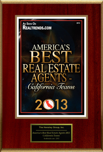 The Hensley Group, Inc Selected For 'America's Best Real Estate Agents 2013 - California Teams'