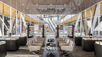 Interior retail rendering