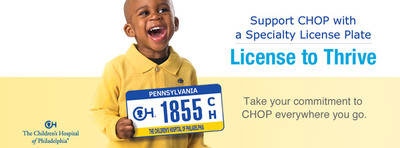 The Children's Hospital of Philadelphia To Unveil a Specialty License Plate.  (PRNewsFoto/The Children's Hospital of Philadelphia)