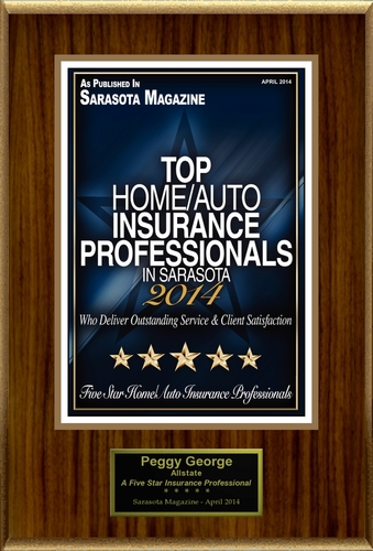 """Peggy George Selected For """"Top Home/Auto Insurance Professionals In Sarasota"""" (PRNewsFoto/American ..."""