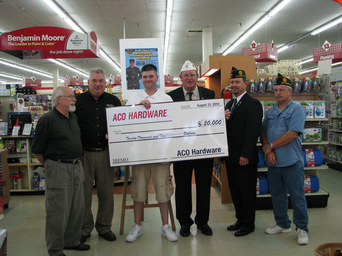 ACO Hardware Donates $20,000 to American Legion Troop Support