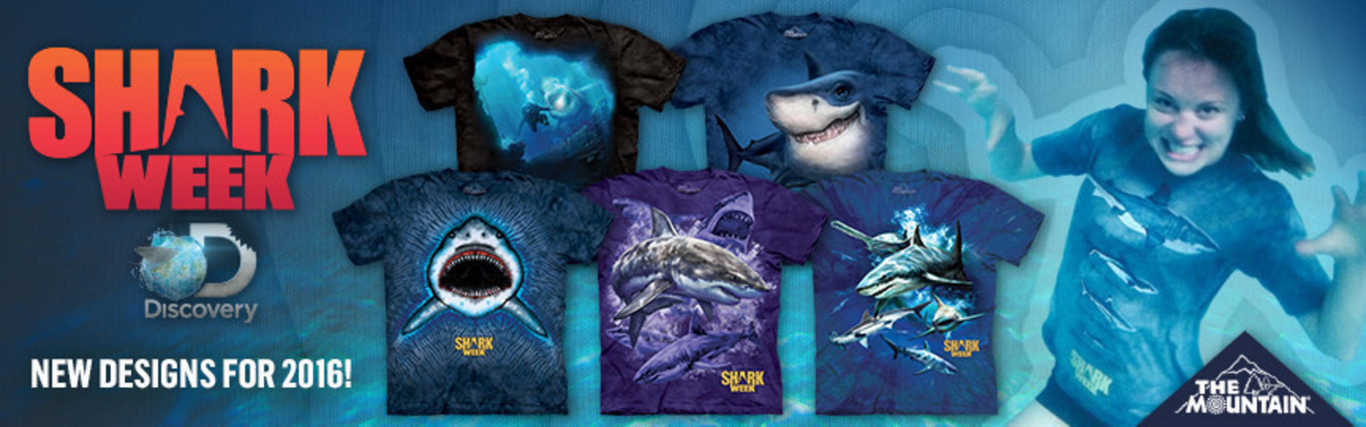 The Mountain' and Discovery Consumer Products Partner to Create a Tide Turning Line of T-Shirts in Celebration of Discovery's Shark Week