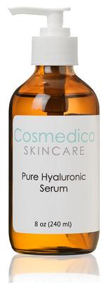8oz bottle of Hyaluronic Acid Serum.  (PRNewsFoto/Cosmedica Skincare)