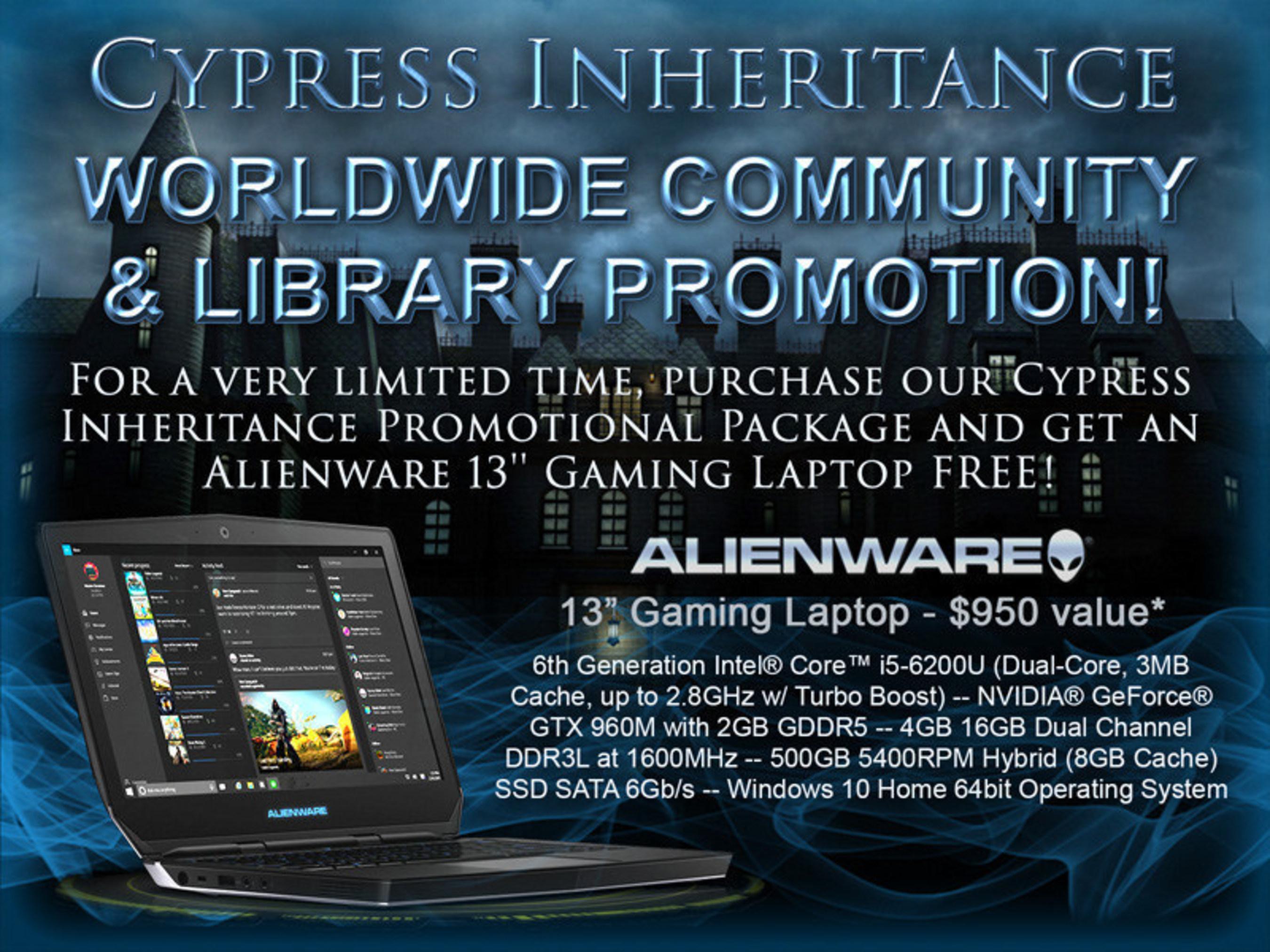 Cypress Inheritance Worldwide Community & Library Promotions