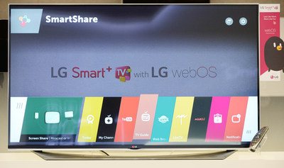 """LG Electronics (LG) will unveil an expansive TV lineup featuring the company's new """"webOS 2.0"""" Smart TV platform at the 2015 International CES(R), Jan. 6-9 in Las Vegas. LG's webOS 2.0 is specifically designed to deliver a superior user experience by improving upon the key features found in the current generation of Smart TVs using the award-winning webOS system introduced earlier this year."""