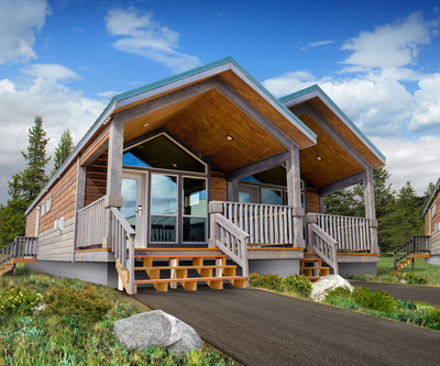 The Montana Cabin style offers the option of interconnecting cabins for families and groups traveling together.  (PRNewsFoto/Delaware North Companies Parks & Resorts)