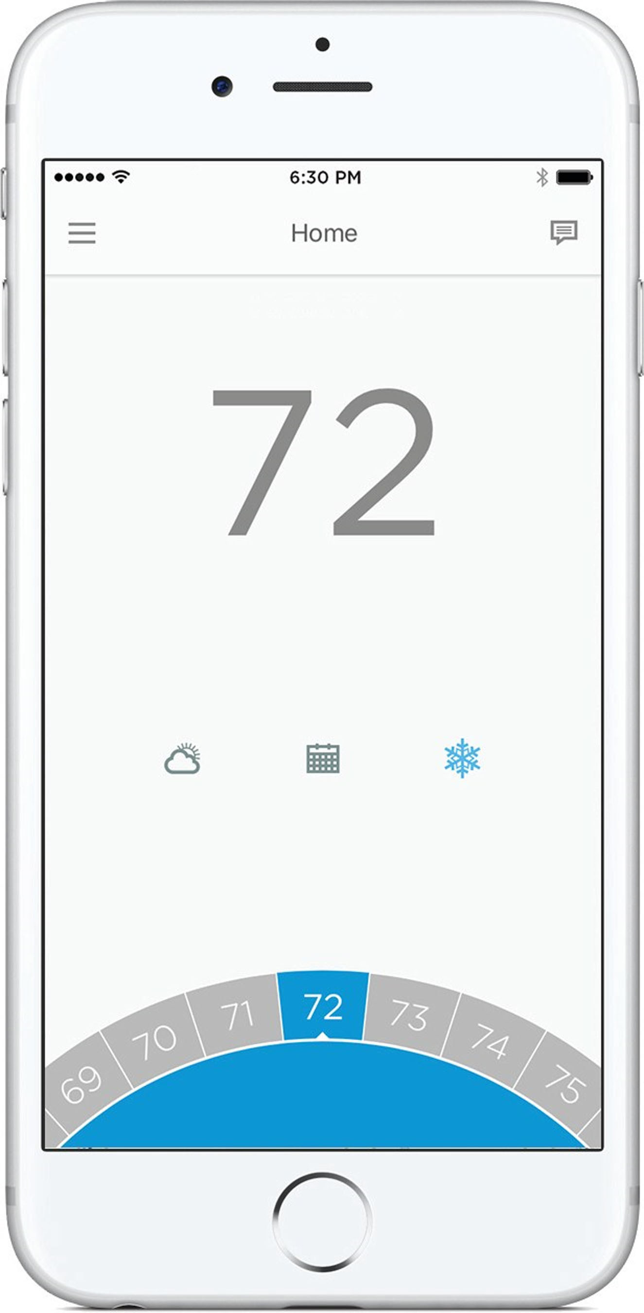 The Honeywell Lyric app, for the new Honeywell Lyric T5 Wi-Fi Thermostat.