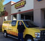 Thomas Iverson stands outside his new Dickey's Barbecue Pit with his catering van in Yuba City. Thursday kicks off the three day grand opening where the first 50 guests receive gift cards. (PRNewsFoto/Dickey's Barbecue)