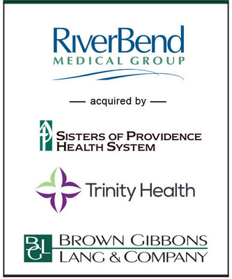Brown Gibbons Lang & Company (BGL) announces that RiverBend Medical Group has joined the provider and service network of Mercy Medical Center and the Sisters of Providence Health System (SPHS), members of Trinity Health. BGL served as the financial advisor to all parties in the transaction.  The specific terms of the transaction were not disclosed. Founded over thirty-five years ago, the RiverBend Medical Group is the largest private physician group practice in Pioneer Valley, New England with 100 + providers, six locations and multiple specialties.