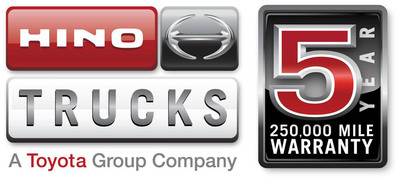 5 Year / 250,000 Mile Warranty Logo(PRNewsFoto/Hino Trucks)
