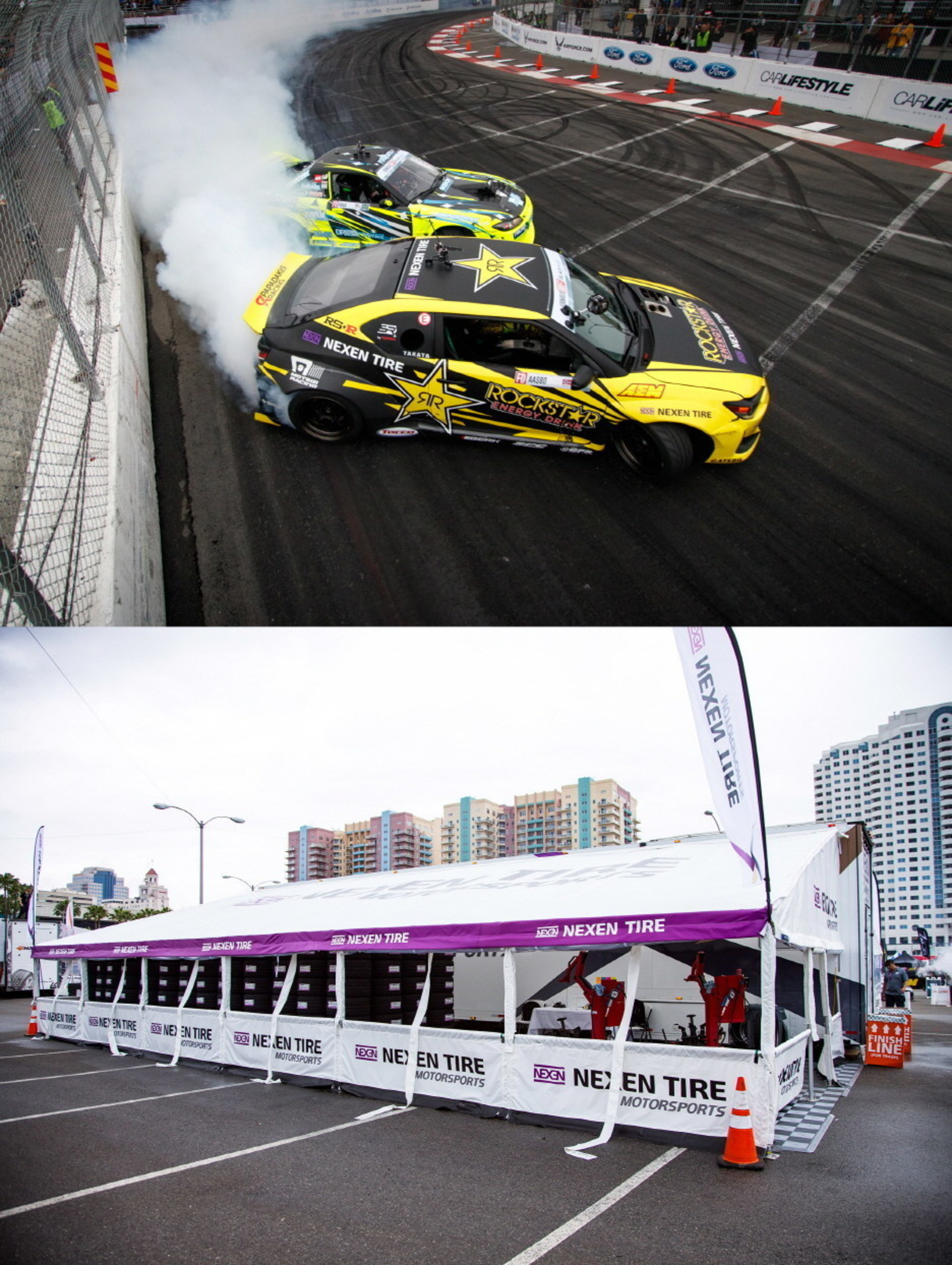 Nexen Tire's Sponsored Drivers Finish in Top 3 for the 2016 Formula DRIFT Round 1