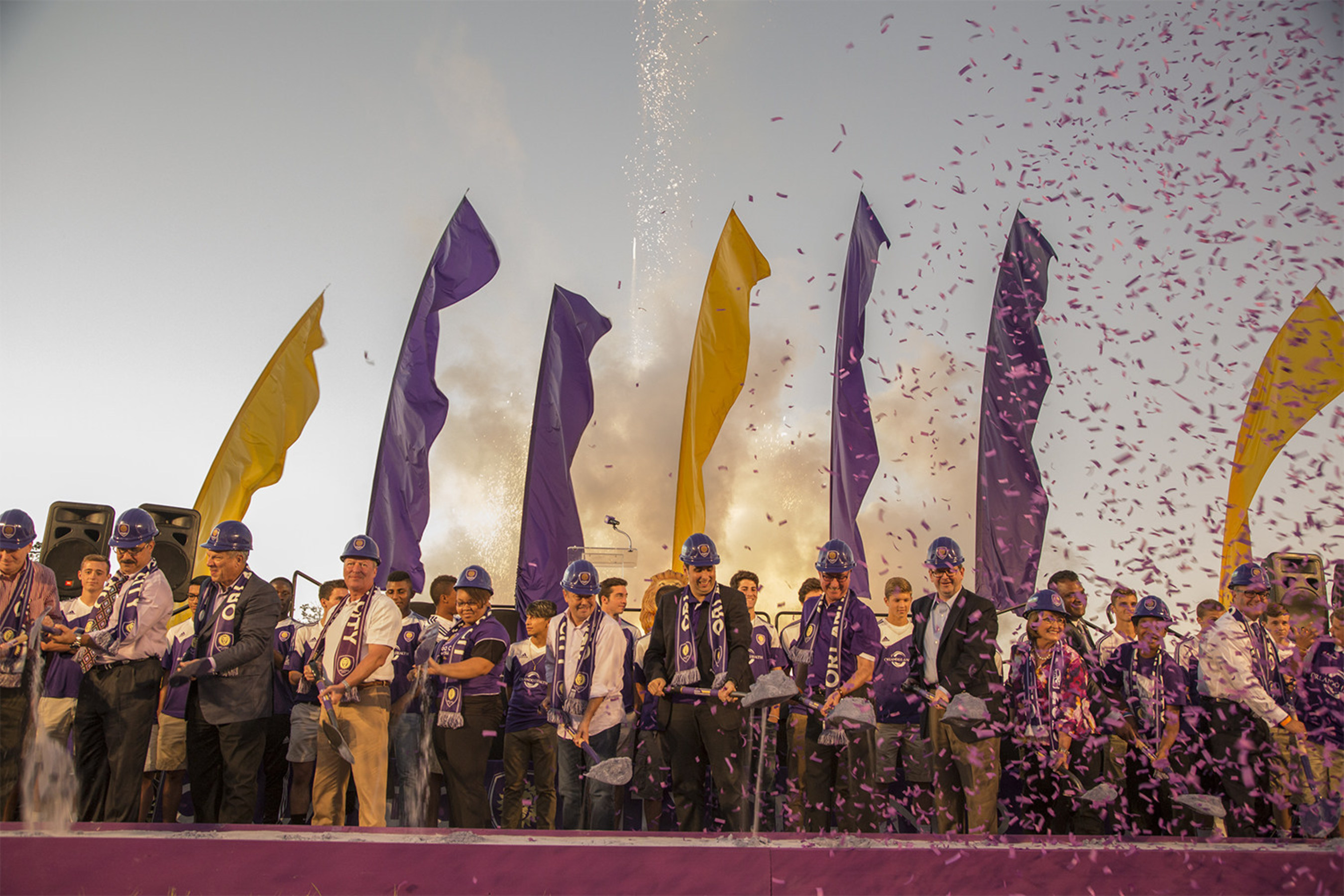 Orlando City SC breaks ground on its new Major League Soccer Stadium in the heart of downtown Orlando.