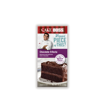 Cake Boss Chocolate Trifecta cake mix. (PRNewsFoto/Dawn Foods, Inc.)