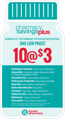 Kmart Launches Pharmacy Savings Plus Program Helping Shoppers Save Hundreds of Dollars on Prescriptions Each Year