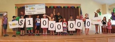 CEO Mike Rotondo presents $1 million check to Camp Sunshine