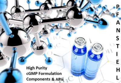 Pfanstiehl: US-Based cGMP Manufacturing of APIs and Biopharmaceutical Formulation Components (PRNewsFoto/Pfanstiehl) (PRNewsFoto/Pfanstiehl)