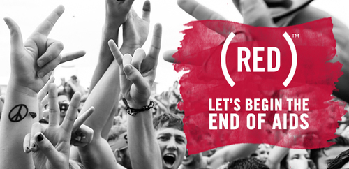 Live Nation Entertainment and (RED) Work Together Once Again to Begin the End of AIDS. (PRNewsFoto/Live Nation Entertainment)