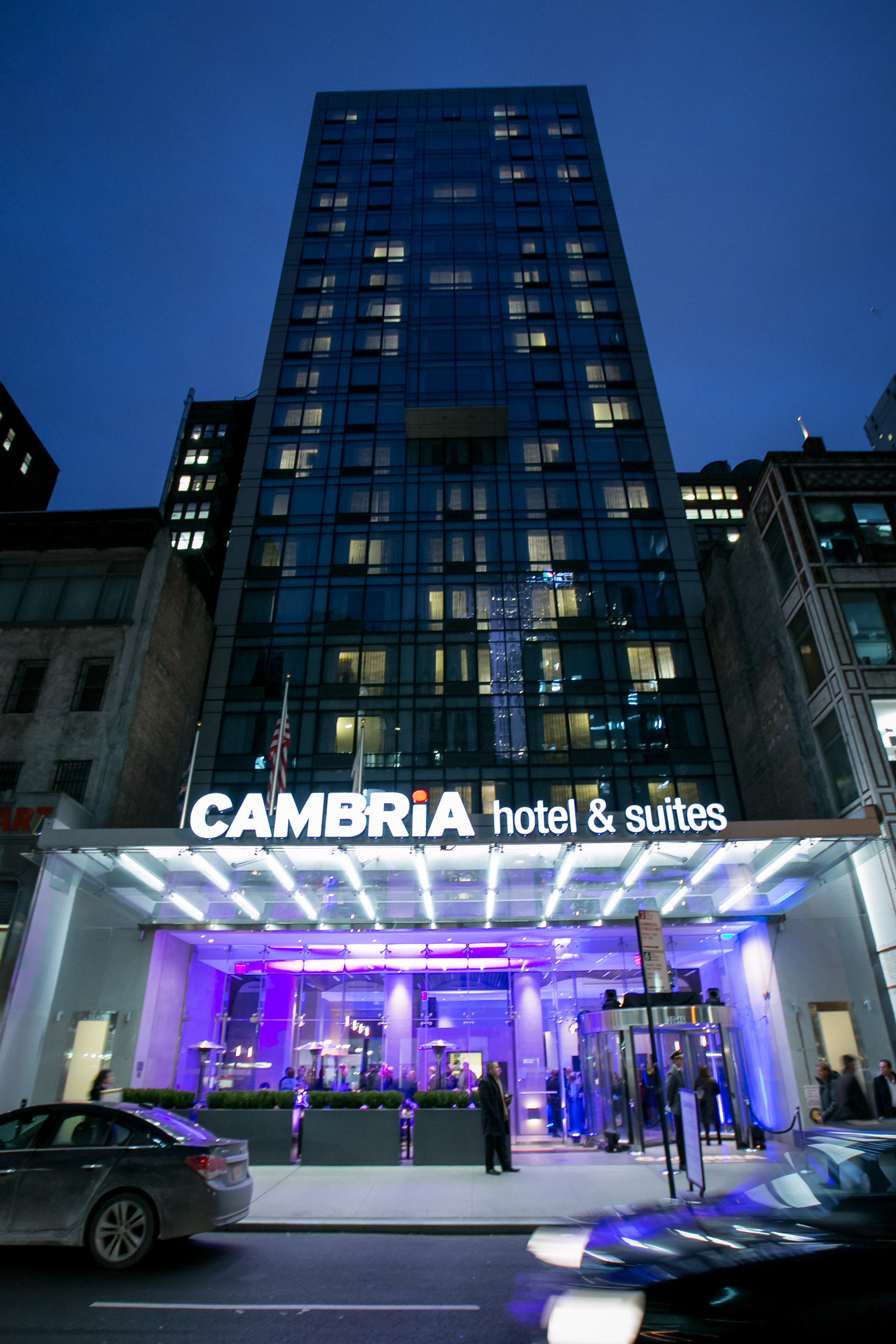 Outside Cambria Hotel Suites Ny Times Square