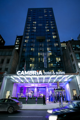 Outside Cambria hotel & suites NY - Times Square