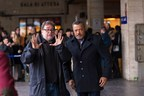 Guillermo Navarro and Laurence Fishburne on the set of Hannibal